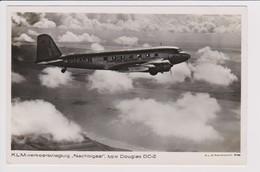"Vintage Rppc KLM K.L.M Royal Dutch Airlines Douglas Dc-2 Named ""Nachtegaal"" Aircraft - 1919-1938: Between Wars"