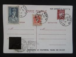 ALGERIE  - Entier Postal PETAIN N ° 505   - 1944  -  Correspondance MILITAIRE - ALGER RP  - Un Seul BUT La VICTOIRE - Usados