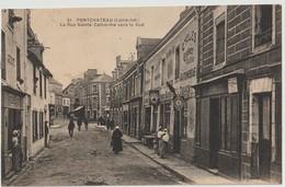 PONTCHÂTEAU ( Loire Inf. ) - La Rue Sainte Catherine Vers Le Sud - Commerce Cycles Grenet, Tabac.....Carte Animée. - Pontchâteau