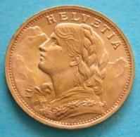 20 Franchi  1935 Gold  Coin Swiss - Svizzera