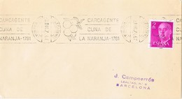35411. Carta CARCAGENTE (Valencia) 1971. Rodillo Especial Cuna De La NARANJA. Orange Fruits - 1931-Tegenwoordig: 2de Rep. - ...Juan Carlos I