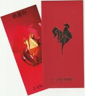 Nouvel An Chinois  2017** Le COQ ** Enveloppe Rouge Red Pocket  +  CARTE ** LANCÔME ** - Cartes Parfumées