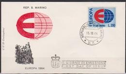 San Marino 1964 FDC Mi-Nr.826 Europa ( D2732 )günstige Versandkosten - FDC