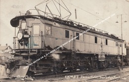 ELECTRIC MOTOR CM & St P DEER LODGE MONT MONTANA / SMITH PHOTO SENT TO BELGIUM 1920 - United States