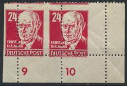 SBZ 2x220 Eckrandpaar ** Postfrisch Mit Grober Verzähnung - Zona Sovietica