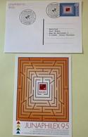 9862 - 2 Entiers Postaux  Junaphilex 1995 Neuf Et Junaphilex Basel - Entiers Postaux
