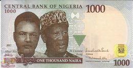 NIGERIA 1000 NAIRA 2011 PICK 36e UNC - Nigeria