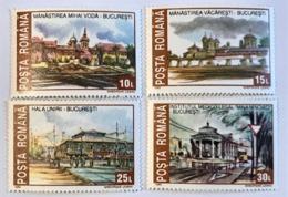 1993 Roumanie Monuments Historiques Détruits Série Complète Neuf - 1948-.... Repúblicas