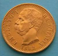 Regno Umberto I  20 Lire 1882  Gold Oro Or - 1861-1946 : Regno
