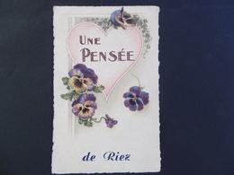 Une PENSEE De RIEZ  ( 04 ) - Other Municipalities
