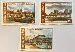 1993 Roumanie Monuments Historiques Détruits Série Incomplète Neuf - 1948-.... Repúblicas