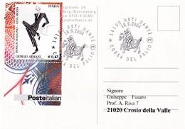 Italy 2004 Card; Horse Pferd Cavallo; Knight Tournament; Corsa Del Palio; Mode Moda; Giorgio Armani Creation - Horses