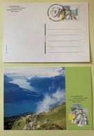 9865 - 2 Entiers Postaux  Lac Des Quatre-Cantons Neuf Et FDC 2000 - Interi Postali