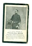 WO1 / WW1 - Doodsprentje Devos François-Jean - Sint-Jans-Molenbeek / Tetley (UK) - Gesneuvelde - Décès