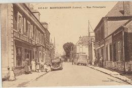 MONTCRESSON  45   La Rue Principale  Tres Animée-Epicerie-Café-Hotel Et Voiture Et Autocar - France