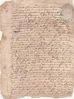 2 Cachets Généralité Différents Dix Deniers LIMOGES Recto Verso 26/12/1699 Quittance - Cachets Généralité