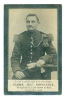 WO1 / WW1 - Doodsprentje Goessaert Camiel Aimé - Scheldewindeke / Gustrow (D) - Krijgsgevangene - Todesanzeige