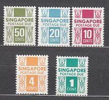 Singapur - Tasa Yvert 16/20 ** Mnh - Singapur (1959-...)