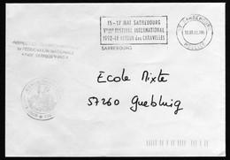 Cad Flamme Sarrebourg 1992 Retour Des Caravelles Bateaux 12/05/1992  Vers Guebling Moselle  TB - Postmark Collection (Covers)