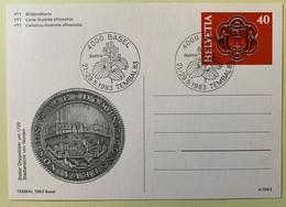9871 -  Entier Postal Tembal 1983  Bâle  Avec Impression Basler DoppelTaler  (tirage 10'000) Oblitéré - Stamped Stationery