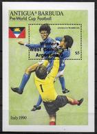 ANTIGUA  BF  186  * *   SURCHARGE   Cup  1990   Football Soccer Fussball - Wereldkampioenschap