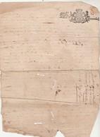 Cachet Généralité 2 Deniers LIMOZIN ( Limousin ) Manuscrit 1 Page 18/6/1690  Quittance - Cachets Généralité