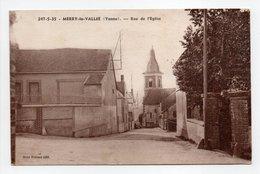 - CPA MERRY-LA-VALLÉE (89) - Rue De L'Eglise - Edition H. Brunot 247-5-35 - - Frankrijk