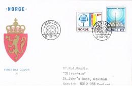 35420. Carta F.D.C. OSLO (Norge) Noruega 1975. KRINGKASTING. Radio Difusion - Norway
