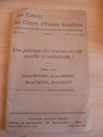 Une Politique Des Revenus Est-elle Souhaitable....  1963 - Livres, BD, Revues