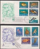 San Marino 1966 FDC Mi-Nr.869 - 878  Meeresfauna( D4321 )günstige Versandkosten - FDC