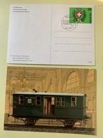 9875 - 2 Entiers Postaux Musée Des PTT 1990 Wagon Poste Neuf Et FDC - Interi Postali
