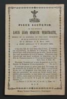 Image Mortuaire - Louis Léon Auguste Verstraete - Gheluwe - 1801-1864 - - Devotion Images