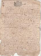 Cachet Généralité LIMOZIN ( Limousin ) Manuscrit 4 Pag0s 12/2/1688 Mariage - Cachets Généralité