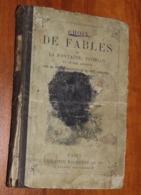 Livre LES FABLES DE LA FONTAINE - 1891 - Edition Hachette / 30 - Franse Schrijvers