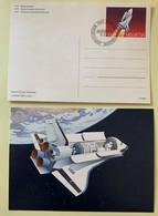 9876 - 2 Entiers Postaux Space Shuttle 1991 Neuf Et FDC - Entiers Postaux