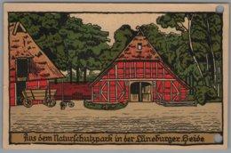 Lüneburger Heide - Steindruck Künstlerkarte - Lüneburger Heide