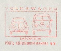 Meter Cover Netherlands 1967 Car - Volkswagen Beetle - Van - VW - Cars