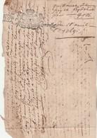 Cachet Généralité Six Deniers LIMOZIN ( Limousin ) Manuscrit 18/4/1691 Quittance - Cachets Généralité