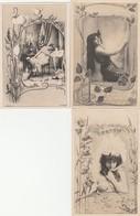 """3 CPA:""""OGERAU"""" DULAC,MANON,DERVAL - Künstlerkarten"""