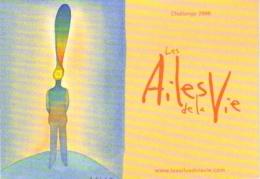 """Carte Postale """"Cart'Com"""" (2006) - Les Ailes De La Vie (illustration Folon) Challenge 2006 - Aéroport Lyon Saint Exupéry - Folon"""