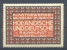 Werbemarke Cinderella Poster Stamp Raumkunst Ausstellung Zürich #29 - Erinnofilia