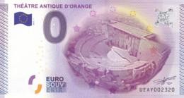 """FRANCE / Billet Touristique / Souvenir 0 €uro - 2015 """" THEATRE ANTIQUE D'ORANGE """". - Essais Privés / Non-officiels"""