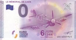"""FRANCE / Billet Touristique / Souvenir 0 €uro - 2015 """" LE MEMORIAL DE CAEN  """". - Essais Privés / Non-officiels"""