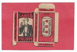 916 -LAMES DE RASOIR .  BOITE VIDE . LAMES PHILIPPE - Lames De Rasoir