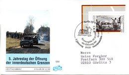 """BRD Schmuck-FDC """"5. Jahrestag Der Öffnung Der Innerdeutschen Grenzen"""" Mi.1769 ESSt 9.11.1994 BERLIN 12 - FDC: Covers"""