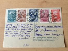 K8 Russia Russie USSR URSS 1940 AK Von Moskau Nach Berlin Tschaikowski Komponist - Lettres & Documents