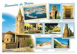 83 - Souvenirs De FRÉJUS - Multivues: Aqueducs, Port, Barrage De Malpasset, Arènes, ... - Ed. MISTRAL N° 57-42 - Frejus