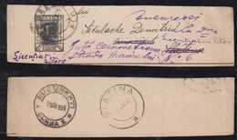 Rumänien Romania 1895 Stationery Wrapper Returned To Sender BUCURESTI SLATINA - 1881-1918: Carol I
