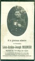 WO1 / WW1 - Doodsprentje Meunier Leon Arsene Joseph - Laforge / - Gesneuvelde - Décès