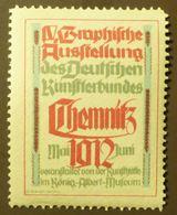Werbemarke Cinderella Poster Stamp Graphische Ausstellung Chemnitz 1912  #91 - Erinnofilia